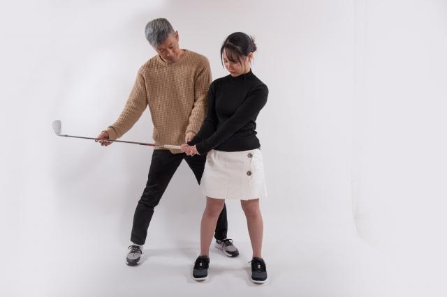 ゴルフコーチの指導